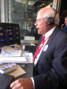Joe Castiglione in action in the booth in NY
