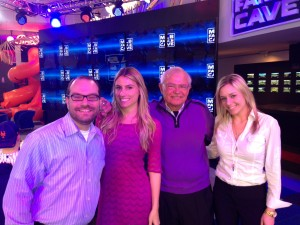 Joe with Director of the Fan Cave Jeff Heckelman, MLBFC PR's Jen Zudonyi and Kerri Lisa, Fan Cave Art Curator.